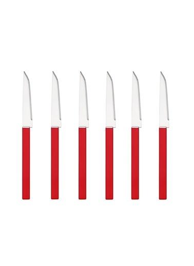 Karışık Renkli Köşeli 6Lı Meyve Bıçağı Seti-Tantitoni